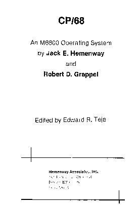 Cover of: CP/68, an M6800 operating system by Jack E. Hemenway
